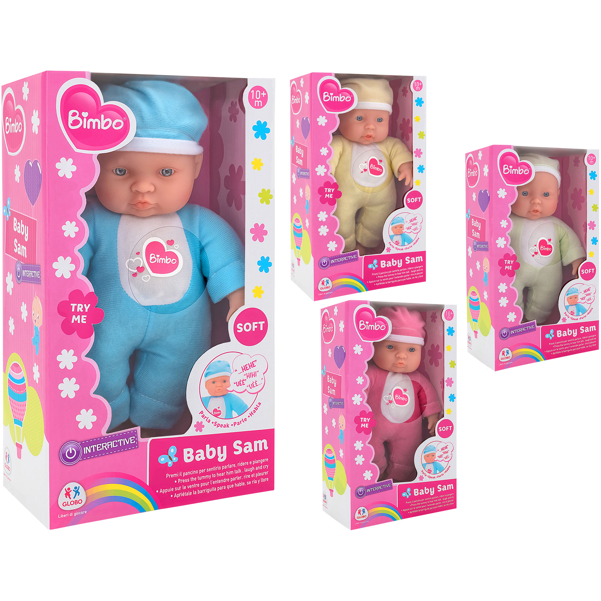 28Cm Crying Doll 6 Sounds 4Asst Col