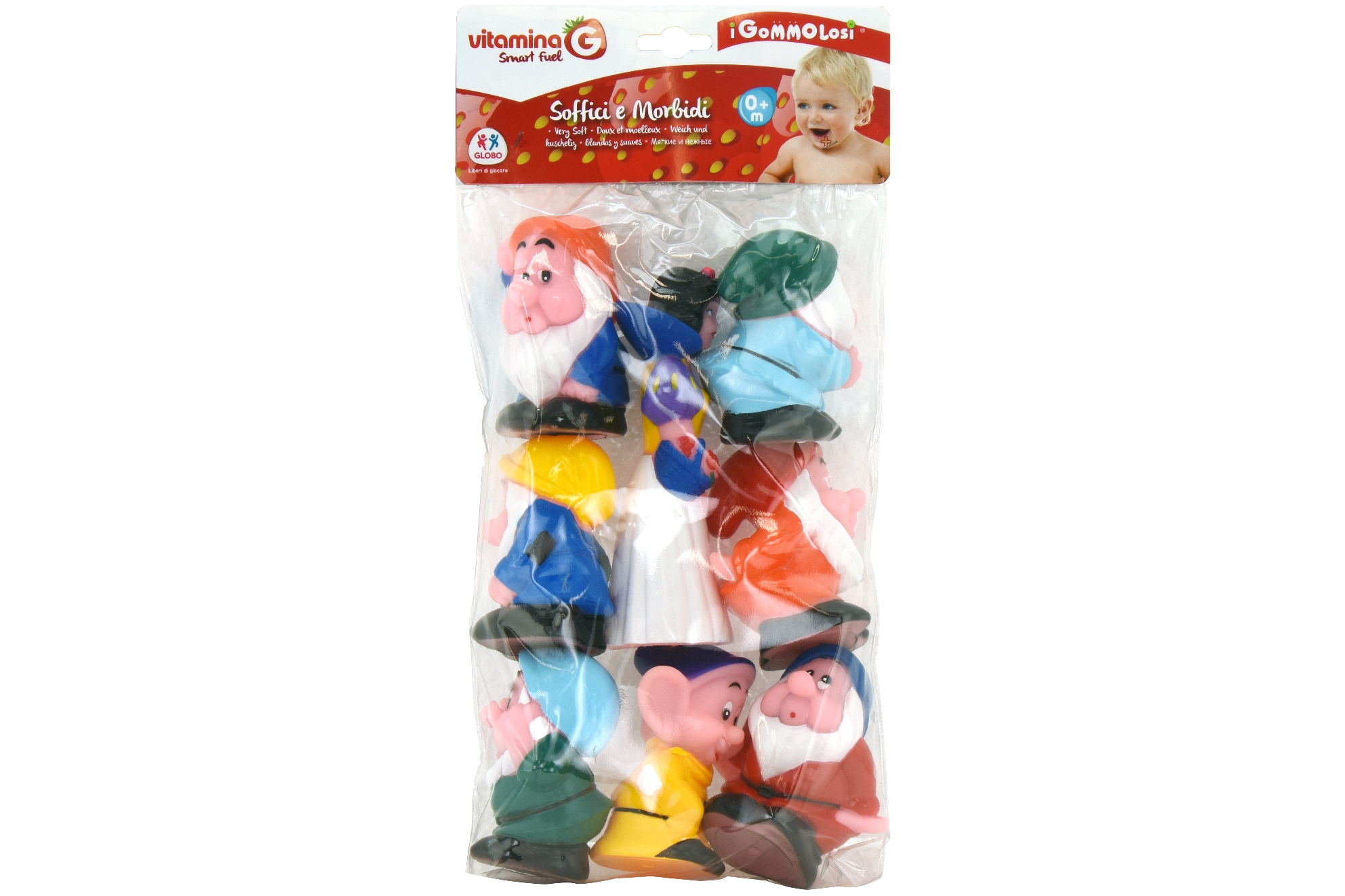 Gommolosi Snow White 8 Pcs W/7 Dwarves