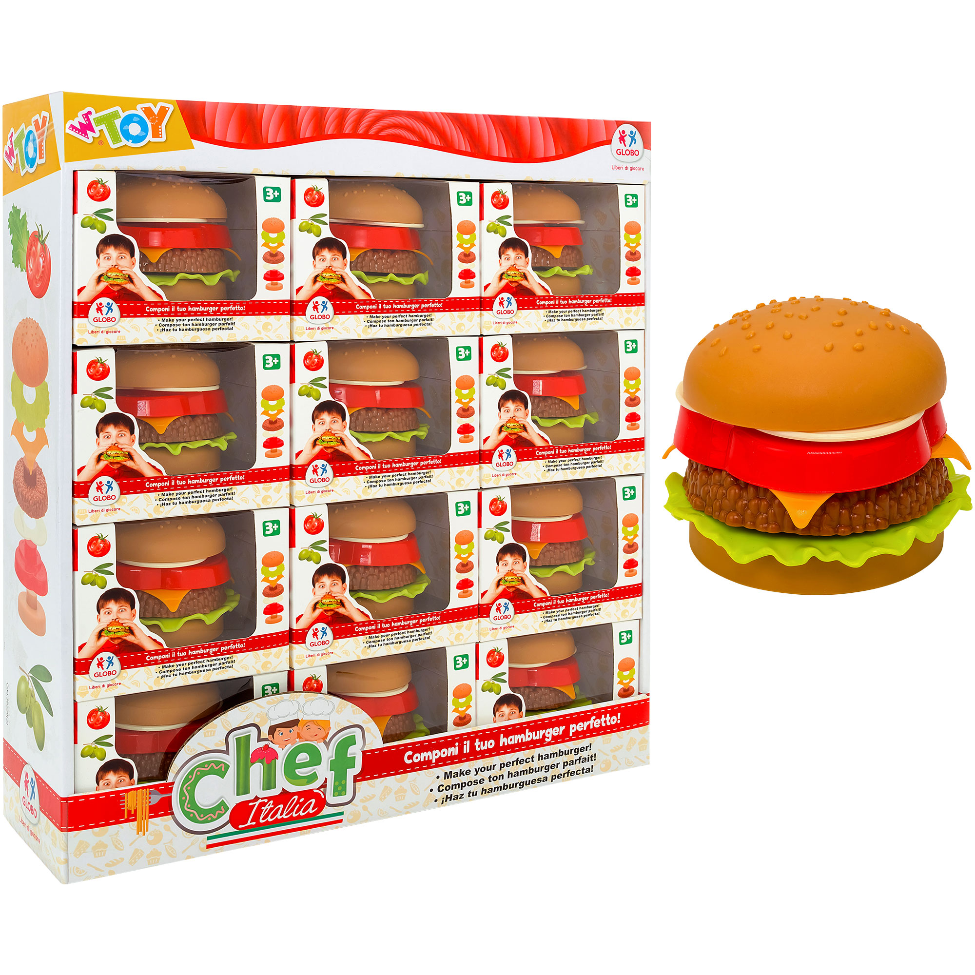 Hamburger 12Pcs/ Standing Display Box